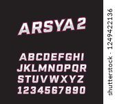 arsya font is suitable for... | Shutterstock .eps vector #1249422136