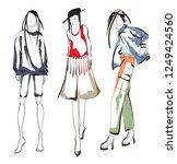 fashion girls sketch. fashion...   Shutterstock .eps vector #1249424560