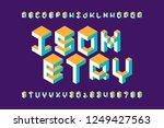 isometric 3d font  three... | Shutterstock .eps vector #1249427563