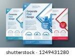 corporate flyer design template ...   Shutterstock .eps vector #1249431280