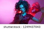 femme fatale dancing  portrait... | Shutterstock . vector #1249437043