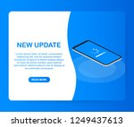 system software update  data... | Shutterstock .eps vector #1249437613