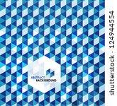 blue modern geometric design... | Shutterstock .eps vector #124944554