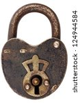 Vintage Corroded Padlock With...