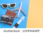 travel top view gadgets and... | Shutterstock . vector #1249446409