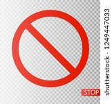 prohibition road sign. stop... | Shutterstock .eps vector #1249447033