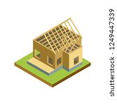 construction structure of house ... | Shutterstock . vector #1249447339
