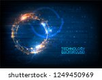 digital hi tech concept... | Shutterstock .eps vector #1249450969