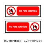 no flammable symbol sign ... | Shutterstock .eps vector #1249454389