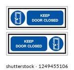 keep door closed symbol sign ... | Shutterstock .eps vector #1249455106