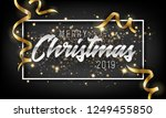 merry christmas and happy new... | Shutterstock .eps vector #1249455850