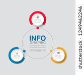 vector infographic template for ... | Shutterstock .eps vector #1249462246