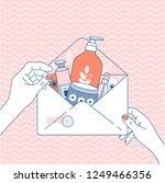 cosmetics online shop order.... | Shutterstock .eps vector #1249466356