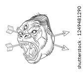 vector illustration   gorilla... | Shutterstock .eps vector #1249481290