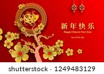 happy chinese new year 2019... | Shutterstock .eps vector #1249483129