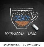 vector sketch of espresso tonic ... | Shutterstock .eps vector #1249483849