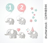 elephants | Shutterstock .eps vector #124948544