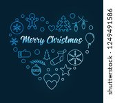blue heart of xmas outline... | Shutterstock .eps vector #1249491586