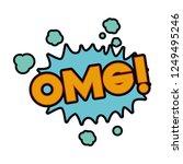 omg comic words in speech...   Shutterstock .eps vector #1249495246