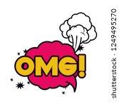 omg comic words in speech...   Shutterstock .eps vector #1249495270