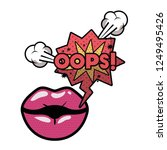 lips saying oops avatar... | Shutterstock .eps vector #1249495426
