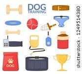 set object of dog sport....   Shutterstock .eps vector #1249514380