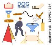 set object of dog sport....   Shutterstock .eps vector #1249514389