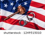 Gavel  Handcuffs And American...