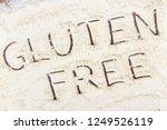 inscription gluten free with... | Shutterstock . vector #1249526119