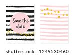 gold glitter sequins with dots. ... | Shutterstock .eps vector #1249530460