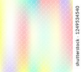 holographic mermaid background... | Shutterstock .eps vector #1249534540