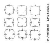 set of vector vintage frames on ... | Shutterstock .eps vector #1249535086