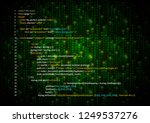 simple html code on green... | Shutterstock .eps vector #1249537276