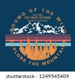 adventure camp outdoor. college.... | Shutterstock .eps vector #1249545409