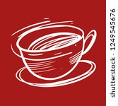 coffee cup hand drawn vector... | Shutterstock .eps vector #1249545676