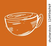 coffee cup hand drawn vector... | Shutterstock .eps vector #1249546969