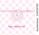 valentine's card | Shutterstock .eps vector #124954709