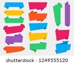 flat origami vector banners | Shutterstock .eps vector #1249555120