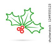 holly berry icon  christmas... | Shutterstock .eps vector #1249555123