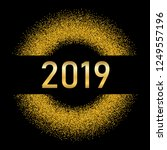 happy new year gold background. ... | Shutterstock .eps vector #1249557196
