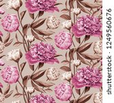seamless floral pattern with... | Shutterstock .eps vector #1249560676