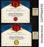 2 sizes of certificate of... | Shutterstock .eps vector #1249566433