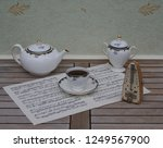 english teacup with saucer ... | Shutterstock . vector #1249567900