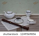 english teacup with saucer ... | Shutterstock . vector #1249569856