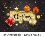 merry christmas vector greeting ...   Shutterstock .eps vector #1249570159