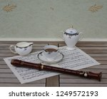 english teacup with saucer ... | Shutterstock . vector #1249572193