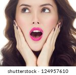 portrait of attractive ... | Shutterstock . vector #124957610