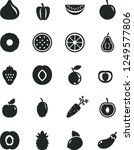 solid black vector icon set  ... | Shutterstock .eps vector #1249577806