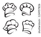 set of chef hats | Shutterstock .eps vector #124957826