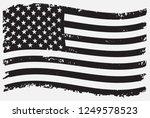 black and white american flag... | Shutterstock .eps vector #1249578523
